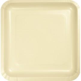 Ivory Square Dinner Plates Paper 23cm
