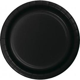 Black Velvet Dinner Plates Paper 23cm