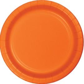 Sunkissed Orange Dinner Plates Paper 23cm