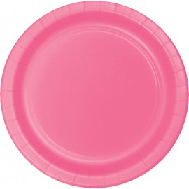Candy Pink Dinner Plates Paper 23cm