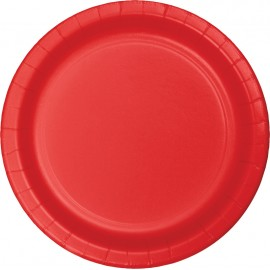 Classic Red Banquet Plates Paper 26cm