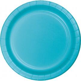 Bermuda Blue Banquet Plates Paper 26cm