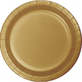 Glittering Gold Banquet Plates Paper 26cm
