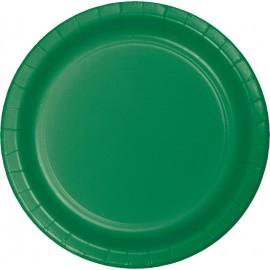 Emerald Green Banquet Plates Paper 26cm