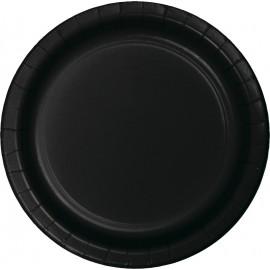 Black Velvet Banquet Plates Paper 26cm