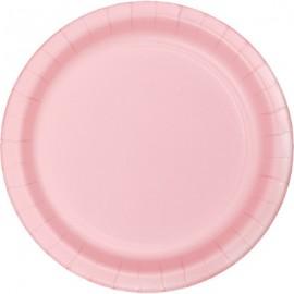 Classic Pink Banquet Plates Paper 26cm