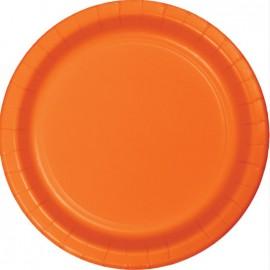 Sunkissed Orange Banquet Plates Paper 26cm