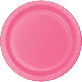 Candy Pink Banquet Plates Paper 26cm