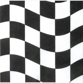 Black & White Check Beverage Napkins