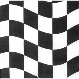 Black & White Checkered Lunch Napkins