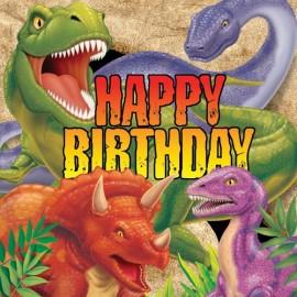 Dino Blast Lunch Napkins Happy Birthday