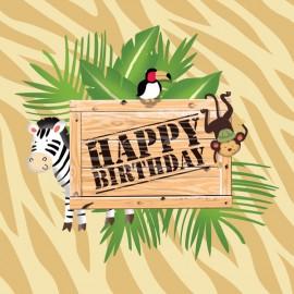 Safari Adventure Lunch Napkins Happy Birthday