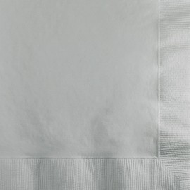 Shimmering Silver Luncheon Napkins