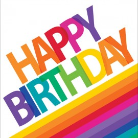 Rainbow Luncheon Napkins Happy Birthday