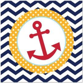 Ahoy Matey Luncheon Napkins