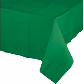 Emerald Green Tablecover Tissue & Plastic Back