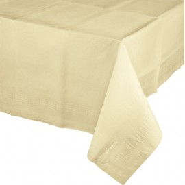 Ivory Tablecover Tissue & Plastic Back