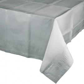 Shimmering Silver Tablecover Tissue & Plastic Back