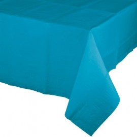 Turquoise Tablecover Tissue & Plastic Back
