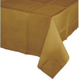 Glittering Gold Tablecover Tissue & Plastic Back