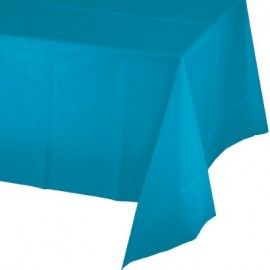 Turquoise Tablecover Plastic