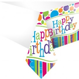 Bright and Bold Happy Birthday Tablecover