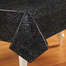 Space Blast Table Cover Rectangle Plastic