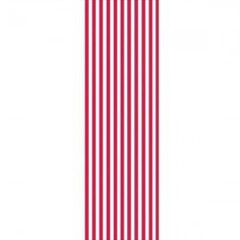 Circus Time Tablecover Plastic Red & White Stripes