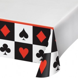 Card Night Tablecover, Plastic
