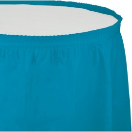 Turquoise Table Skirt Plastic