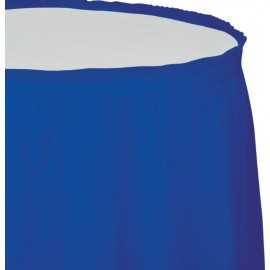 Cobalt Blue Table Skirt Plastic