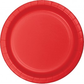 Classic Red Luncheon Plates Paper 18cm