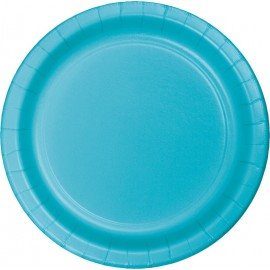 Bermuda Blue Luncheon Plates Paper 18cm
