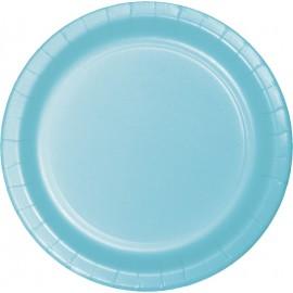 Pastel Blue Luncheon Plates Paper 18cm