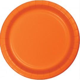 Sunkissed Orange Luncheon Plates Paper 18cm