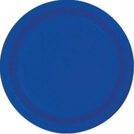 Cobalt Blue Luncheon Plates Paper 18cm
