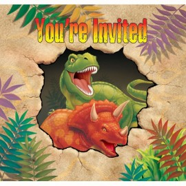 Dino Blast Invitations Gatefold You're Invited