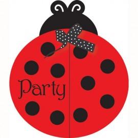 Ladybug Fancy Invitation,