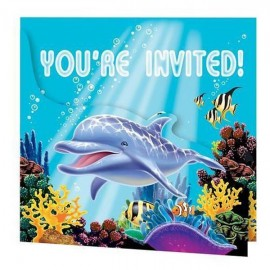 Ocean Party Invitation,Gatefold