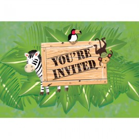 Safari Adventure Invitations Gatefold,