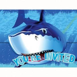 Shark Splash Invitations