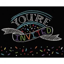 Chalk Birthday Invitations