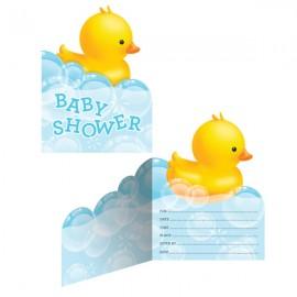Bubble Bath Baby Shower Invitations