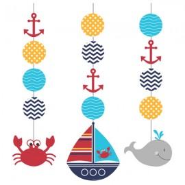 Ahoy Matey Hanging String Cutouts