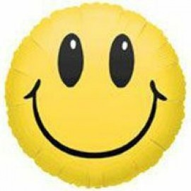 10cm Smile Face Yellow (Inflated)