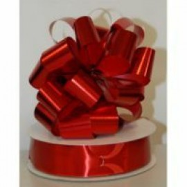 Pull String Bows Metallic Red