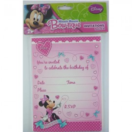 Minnie Mouse Bow-tique Invitation,
