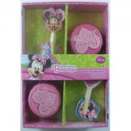 Minnie Mouse Bow-tique Cupcake Decorating