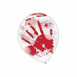 Blood Splatter & Hands Latex Balloons