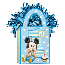 Balloon Tote Weight Mickey Mouse 1st Birthday